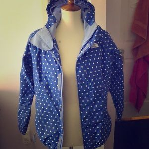 CUTE BLUE AND WHITE NORTH FACE COAT